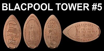 UK Elongated Coin Pressed Penny Blackpool Tower 5 full set retired rare