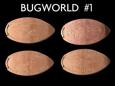 UK Elongated Coin Pressed Penny Liverpool bugworld 1 full set retired rare