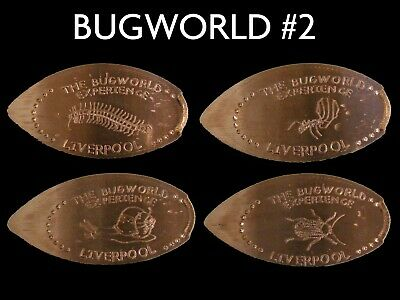 UK Elongated Coin Pressed Penny Liverpool bugworld 2 full set retired rare