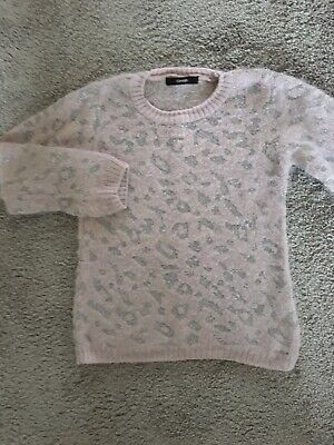 Girls George Animal Leipard Print pink Jumper Sweatshirt 6-7 Yrs