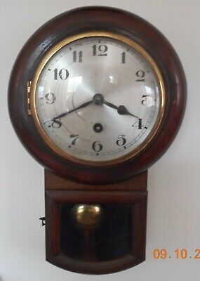 Tavern style wall clock (working) for restoration