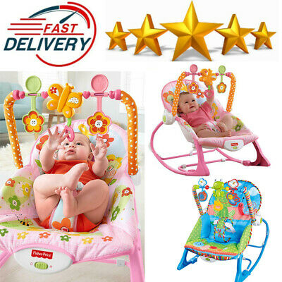 Baby Infant To Toddler Bouncer Rocker Swing Chair Soft Soothing Music Vibration
