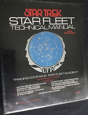Vintage Star Trek STAR FLEET TECHNICAL MANUAL First Edition 1st Printing 1975