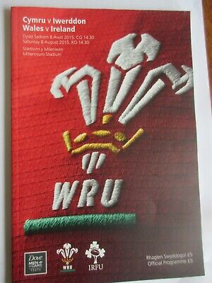 rugby programmes - wales v Ireland 8-8-15