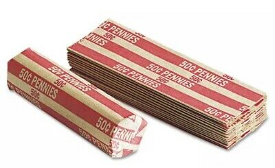 2000 One Cent - Penny Pop-Open Flat Paper Coin Wrappers  tubes for pennies