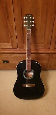 Blue moon acoustic Guitar, case and music books
