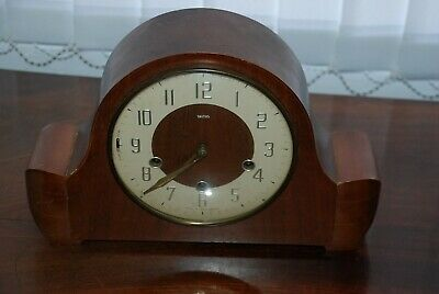 Vintage Smiths Wooden Cased Mantle Westminter Clock SPARES OR REPAIRS
