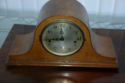Vintage Haller a g Wooden Cased Mantle Westminter Clock SPARES OR REPAIRS