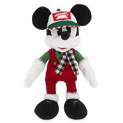 Disney Parks Mickey Yuletide Farmhouse Holiday 2019 Plush Medium New with Tags