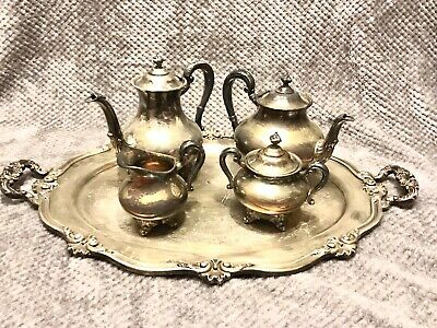 "Vintage Reed & Barton ""Regent 5600"" Silver Plated Coffee/Tea Service No Reserve!"
