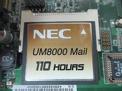 NEC SV8100 670836 110 Hour UM 8000 Voice Mail Flash Card V11.1.1.28 Expansion