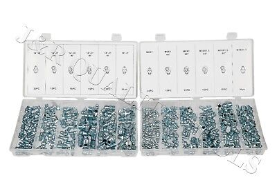 220pcs Metric & SAE Hydraulic Lubrication Grease Zerk Fittings Assortment Set