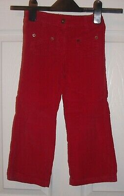 Girls Pillar Box Red Bootcut Trousers  Age 3-4 Years