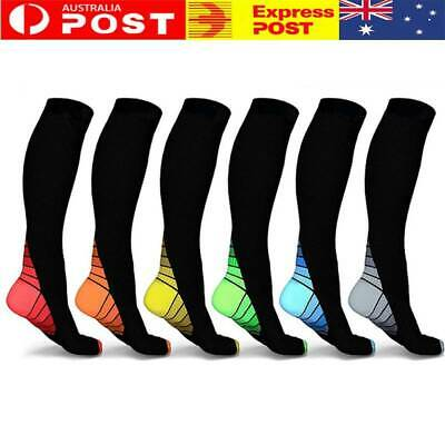 Flight Compression Socks Leg Support Stockings Travel 15-30mmHg Medical Therapy