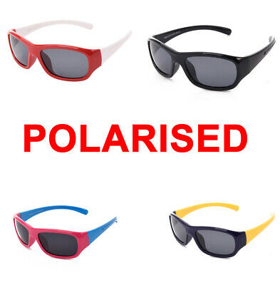 Kids Sports Style Polarised Sunglasses Rubber Flexible Frame for Boys and Girls