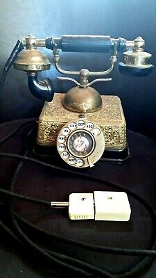 Vintage Estate Antique ornate working hand held dial telephone  Please help us!