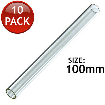10 x GLASS TUBING SUPER THICK WALL BOROSILICATE BLOWING LAB TUBES PYREX 100mm