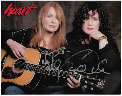 "Autograph 8x10 photo HEART. Ann & Nancy Wilson both signed in 2014. ""Barracuda"""