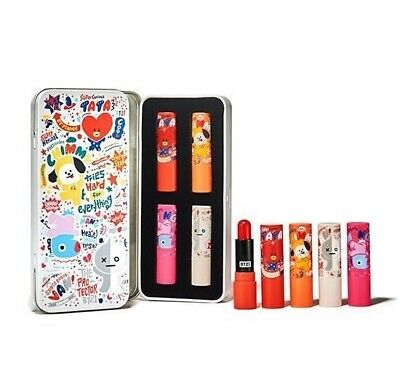 BT21 Official Super Bright Tint Lip Balm Kit Set 3.5g X 4 ea (Gift)