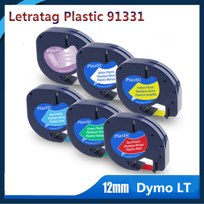 Dymo91331 91330 16952 Compatible with  LetraTag LT-100H Plastic Label Tape 1/2''