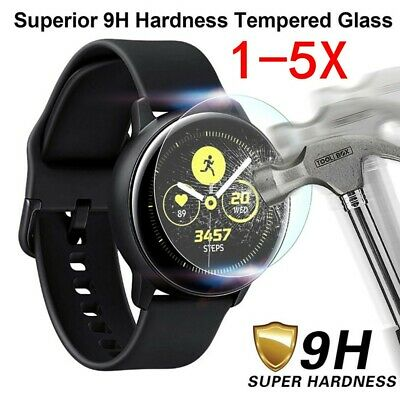 5x For Samsung Galaxy Watch ACTIVE 2 Tempered Glass Screen Protector 40/44MM lot