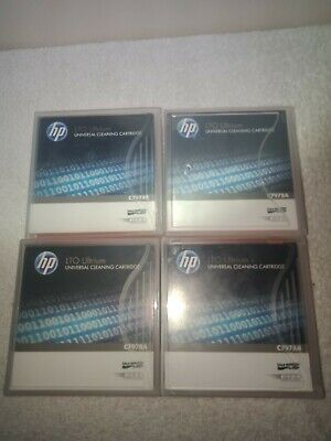4 X HP- LTO Ultrium Universal Cleaning Cartridge C7978A Brand New