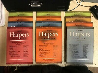 Harpers Magazine: Complete 12 Issue Set: Jan-Dec 1940
