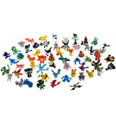 48pcs Wholesale Mixed Lots Pokemon Mini Random Pearl Figures New Hot Kids Toy XX