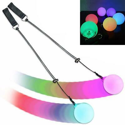 LED Multi-Colored Glow POI Thrown Balls Light Up For Belly Dance Hand Props XX
