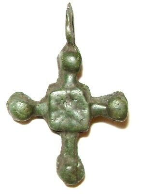 Ancient Rare Vikings Age bronze cast cross pendant. Kievan Rus #2