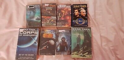 Bulk 8 star trek novel books paperbacks assorted vintage