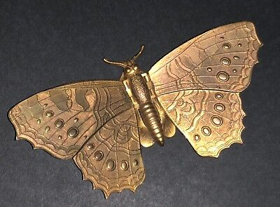 Rare Antique Victorian Avery & Son Redditch Novelty Butterfly Sewing Needle Case