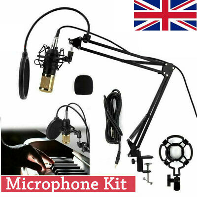 BM800 Audio Vocal Studio Mic Condenser Microphone Set Arm Stand Mount with USB