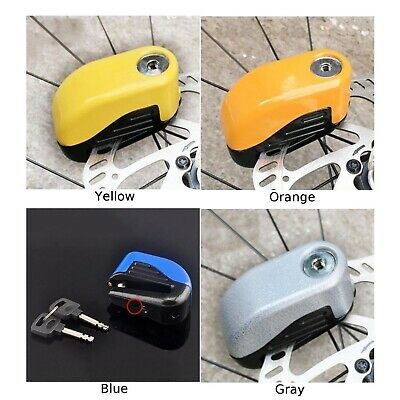 Alarm-type Wheel Disc Brake Lock Motorbike Bike Security Anti-theft Rust-proof