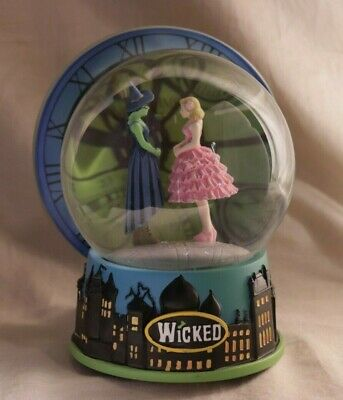 "Rare Wicked Musical Snow Globe Elphaba and Glinda ""Dancing Through Life"""