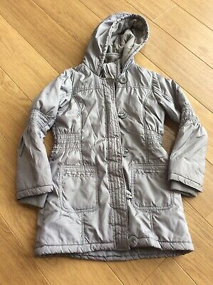 Girls Silver Coat Age 9-10 M&S