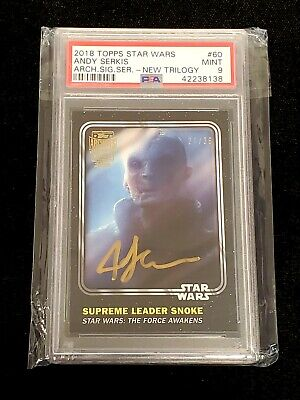 2018 Topps Star Wars Archives Signatures Andy Serkis PSA 9 🔥