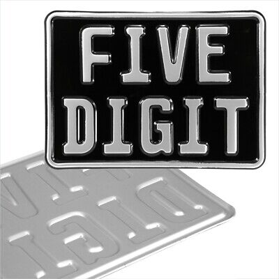 Novelty 7x5 GERMAN BLACK SILVER motorcycle pressed number plate metal aluminium