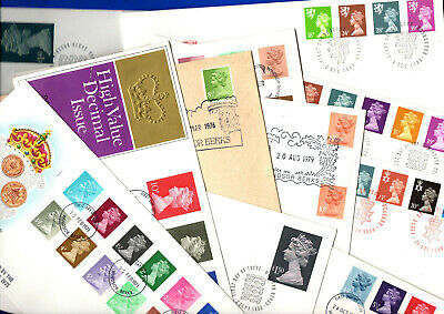 62 different  Machin First Day Covers 1971-1990 Various GB FDC WINDSOR handstamp
