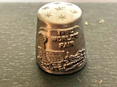 Vintage Metal 1982 Worlds Fair Sewing Thimble
