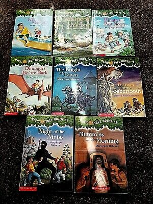 Eight-PACK LOT OF MAGIC TREE HOUSE BOOKS Children's Chapters 1-7 & 28