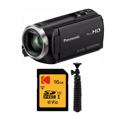 Panasonic HC-V180K Full HD Video Camera Camcorder with Accessory Bundle