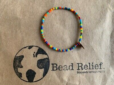 """Bead Relief Handcrafted Bracelet  small size approx. 2"""" diameter New Free Ship"""