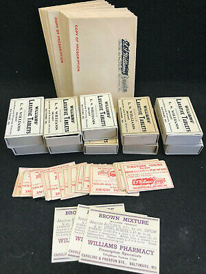 Vtg Pharmacy Druggist Drug Store Lot Poison Labels Script Envelopes Baltimore MD