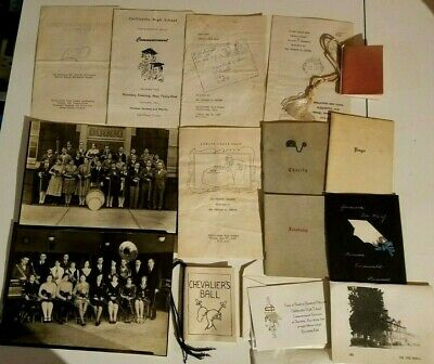 Lot Chillicothe High School Ohio 1955-56 Scrapbook Papers Programs Rainbow Girls