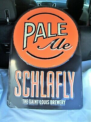 Schlafly Pale Ale Tin Tacker Metal Beer Sign 27 X 18 St Louis New