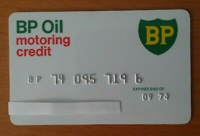 BP Oil Motoring Credit Card - Expired 1974. Vintage Collectible Credit Card