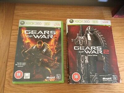 Xbox 360 Gears of War 1 And 2 (GOW) Limited Special Steelbook Edition