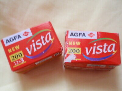 Vintage/Collectable: 2 x 'Agfa New Vista' Empty Film Boxes
