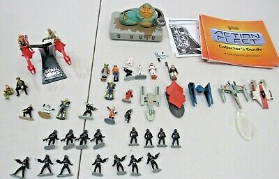 Star Wars Micro Machines Lot Of 40+ Figures And Ships.